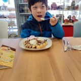 Ice Cream and Waffles with boarders