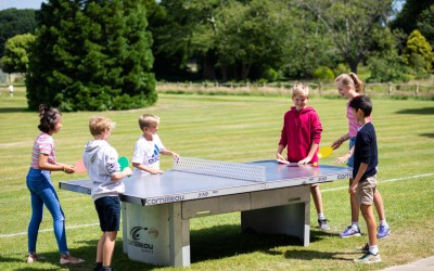 pupils playing table tennis